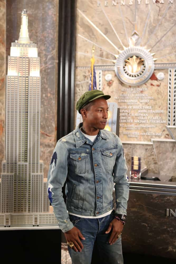 Pharrell Williams was in an Empire State Building event in New York back in 2015 wearing an ivy cap.