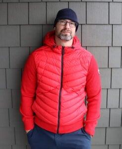 Wearing HyBridge Knit Hoodie by Canada Goose