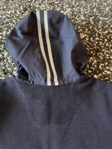 Rear hood of the Elgin Knit Hoody by Canada Goose
