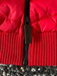 Zipper of the HyBridge Knit Hoody by Canada Goose
