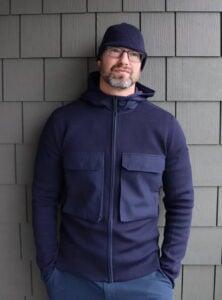 Wearing Elgin Knit Hoodie by Canada Goose