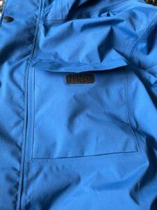 Front velcro pocket Canada Goose rain jacket