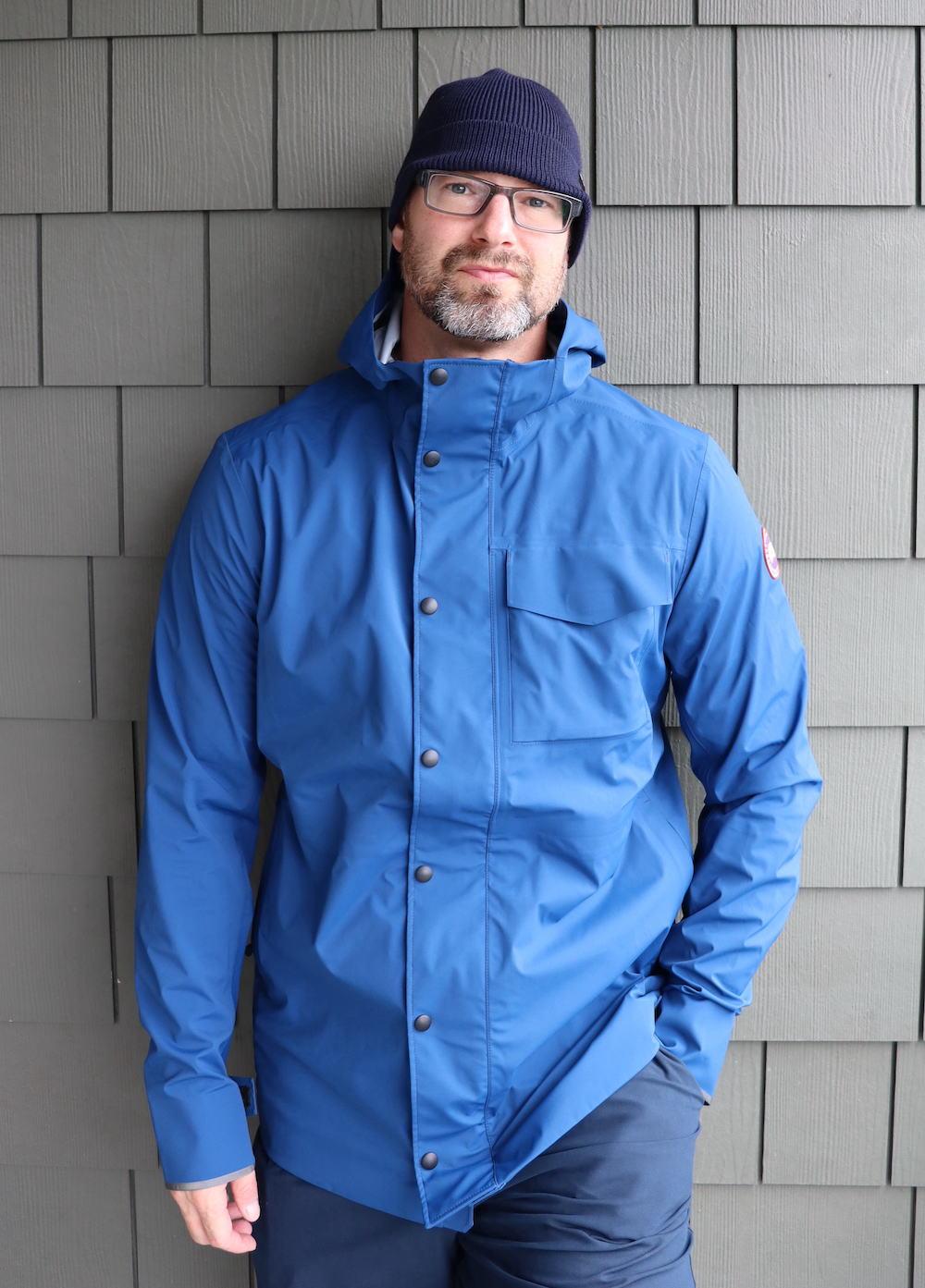 Wearing Canada Goose Rain Jacket