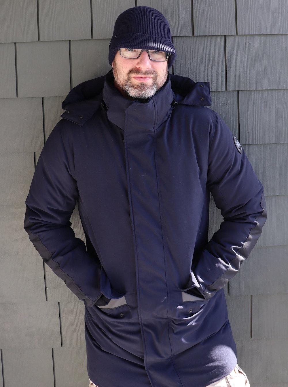 Wearing Canada Goose Brockton Parka