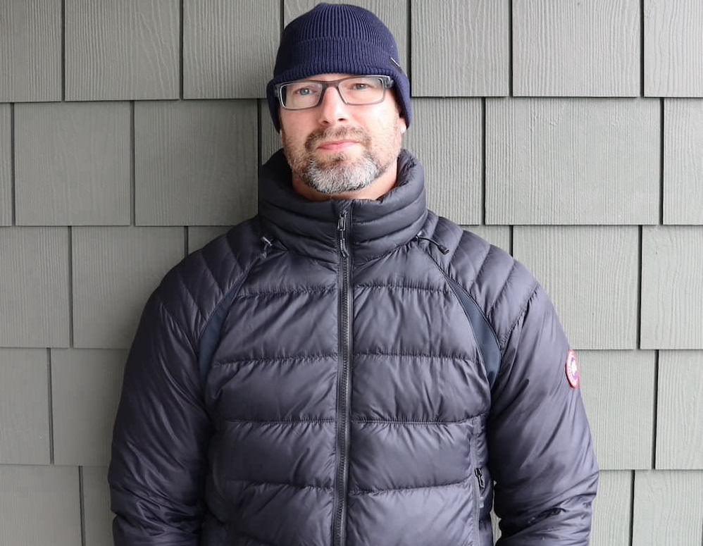 Wearing Hybridge Base Down Canada Goose Jacket