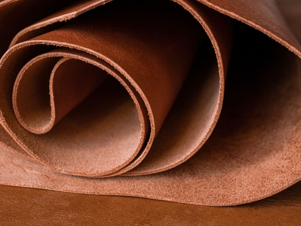 This is a close look at a genuine leather fabric.