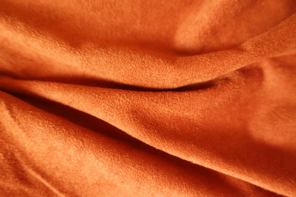 This is a close look at an artificial faux suede fabric.